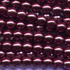 50 4mm Cranberry Pearl Round