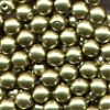 50 4mm Light Olive Pearl Round
