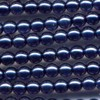 50 4mm Mountian Blue Pearl Round
