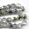50 4mm Crystal Metallic Silver Sparkle Faceted