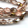 25 Peach Metallic Sparkle Oval