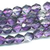 25 6mm Purple to Clear Faceted