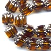 25 6mm Amber with Silver Cap