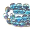 25 6mm Capri Ice Sparkle Faceted