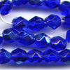 25 6mm Cobalt Blue Sparkle Faceted