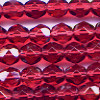 25 6mm Cranberry Faceted