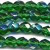 25 6mm Dark Green Sparkle Faceted