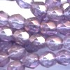25 6mm Iridescent Amethyst Faceted
