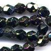 25 6mm Iridescent Sparkle Faceted