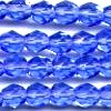25 6mm Blue Sparkle Faceted