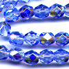 25 6mm Sky Blue Sparkle Faceted