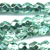 25 6mm Light Jade Sparkle Faceted