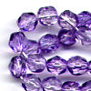 25 6mm Light Purple Sparkle Faceted