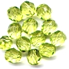 25 6mm Lime Faceted