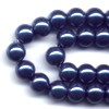 10 6mm Magnetic Metallic Blue Round