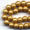 10 6mm Magnetic Metallic Gold Round