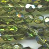 25 6mm Odd Olive Sparkle Faceted