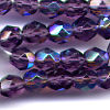 25 6mm Purple Sparkle Faceted