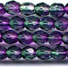 25 6mm Purple to Teal Faceted