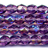 25 6mm Purple Violet Sparkle Faceted