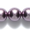 10 Metalic Mauve Dangles 12mm Beads