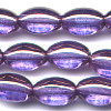 10 Purple Oval 12mm Beads