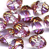10 Gold Cap Peach 10mm Beads