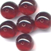 20 Ruby Dangle 10mm Beads