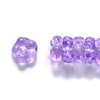 25 Purple Flat Flower 5mm