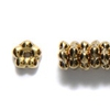 25 Gold Coat Flat Flower 5mm