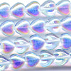 25 Iridescent Light Blue Hearts 6mm