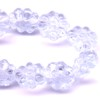 25 Light Lilac Flowers 8mm Side Hole