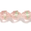 10 Pink Cap with Lime 10mm Beads