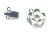 Silver Colored Flower 2 strand box clasp set.