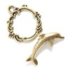 Gold Colored Dolphin Toggle Clasp