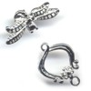 Silver Colored Small Dragonfly Toggle Clasp