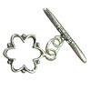 Silver Colored Flower Toggle Clasp