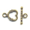 Gold Colored Heart Toggle Clasp