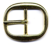 Center Bar Brass Buckle