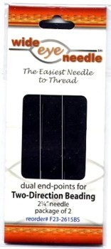 Wide Eye Beading Needles 2 pack