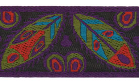 Colorful Africa Ribbon, per 12 inches