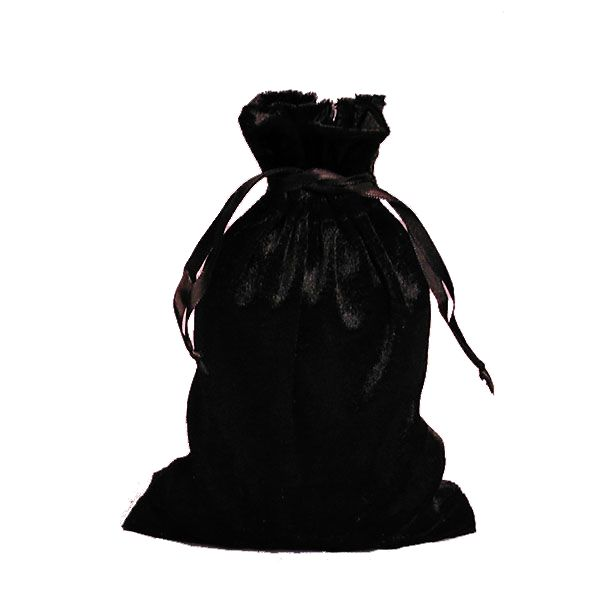 Black Velvet pull tie Bag