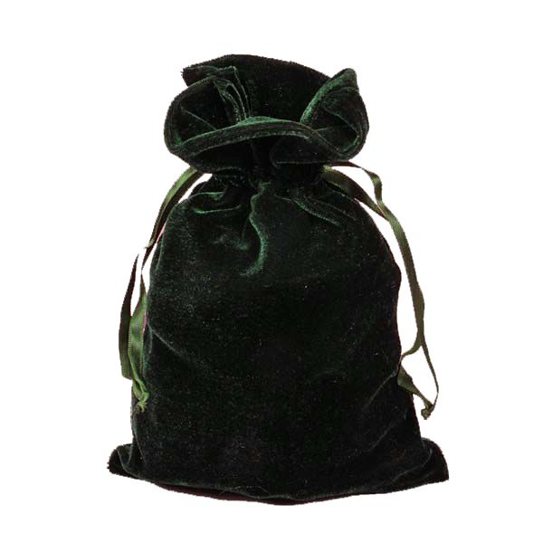 Forest Velvet pull tie Bag