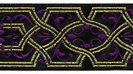Purple Celtic Ribbon, per 12 inches