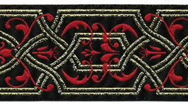 Red Celtic Ribbon, per 12 inches