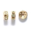 8 Crystal Gold Color 6mm Rhinestone Rondelle