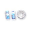 8 Light Blue 6mm Rhinestone Rondelle
