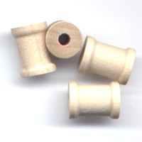 4 Wooden Spools 1/2 by 3/8 inch