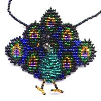 3D Beaded Peacock Bag Necklace Finished Product by Dragon