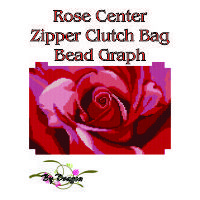 Rose Center Clutch Bag